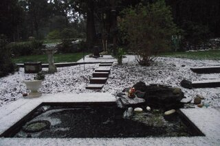 Hail greeted Florence Tues. morning.