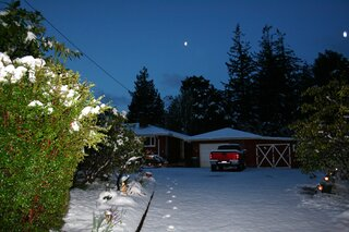 Snow in Coos Bay
