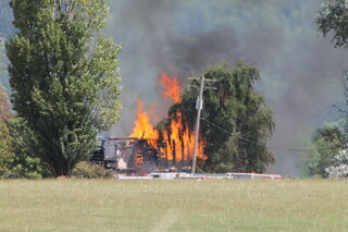 Fire at Kelly's hog farm