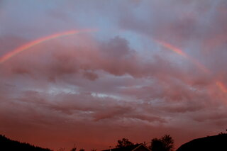 Sunset and Rainbow in Thurston