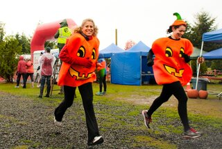 Giant Pumpkins Race to the Finish!