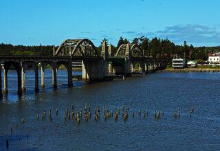 Siuslaw River Bridge and Old Florence