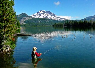 Fishing at Sparks Lake