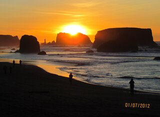 Sunset January 7, 2012  Bandon, OR
