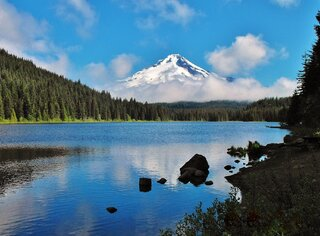 Mount Hood from Trillium Lake