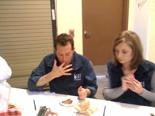 Hard at Work Tasting BBQ