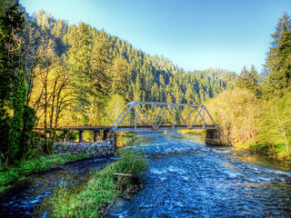 Trestle over the Siuslaw river