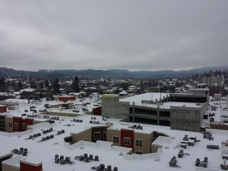 Downtown Eugene On A Snowy Day