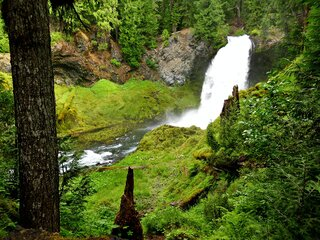 Sahalie Falls On The McKenzie River