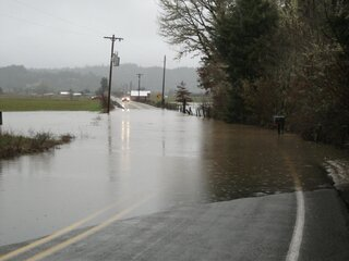 Coquille MIddle Fork flood waters