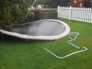 My trampoline after the storm