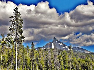 Storm Clouds Over Mt. Thielsen