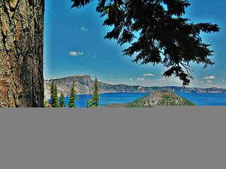 Wizard Island at Crater Lake N.P.