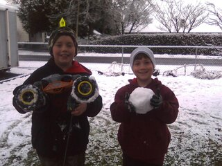 My RC Car vs Your Snow Ball!!