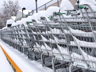 carts with snow grones