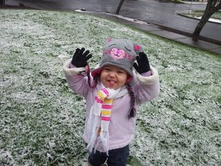 Rylee Williams had fun in the snow.