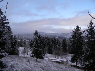 snow day in Yoncalla Oregon