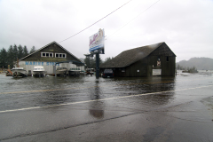 Siuslaw goes over road near Florence