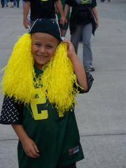 Our grandson at the Duck game