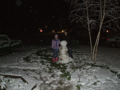 Roseburg snow on new years eve