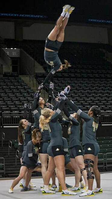 Oregon Acrobatics and Tumbling scores big in 2nd season meet (Photo by Elora Overbey)
