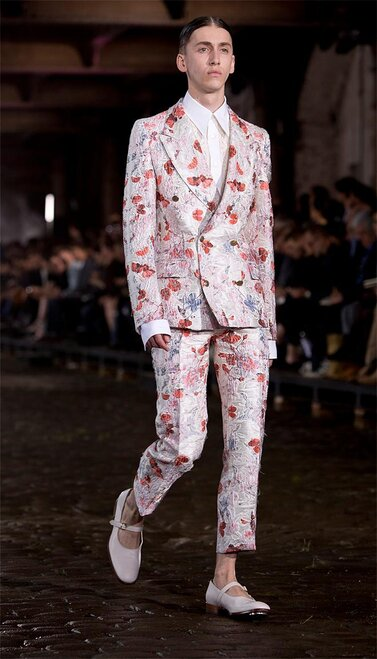 Britain London Men's Fashion Alexander McQueen