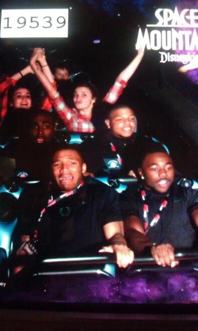 LaMichael James and Kenjon Barner on Space Mountain