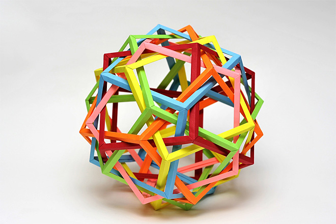 Kwan Six Interlocking Pentagonal Prisms