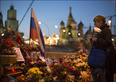 27, 2015 near the kremlin in moscow, russia, tuesday, april 7, 2015