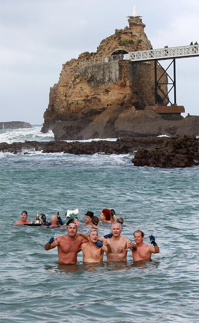 France Swimming New Year