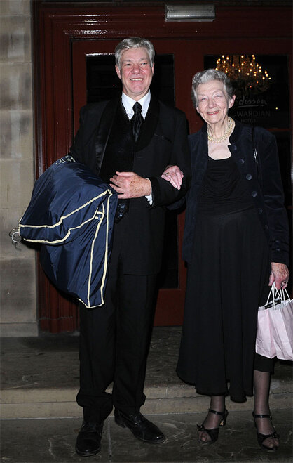 Matthew Kelly and his mother,