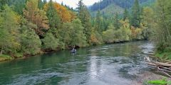 Drifting the McKenzie river in Fall