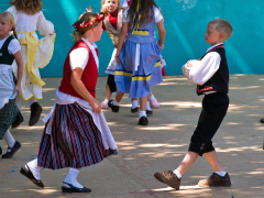 Cute Kids Dancing at the Scandi Festival
