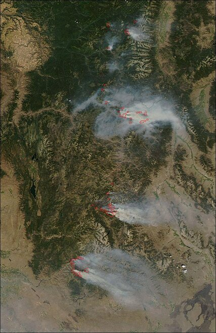 Fires in Idaho August 16