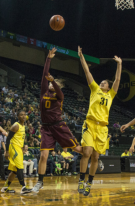 Oregon women beat Arizona State 98-90 at Matt Knight Arena - 05