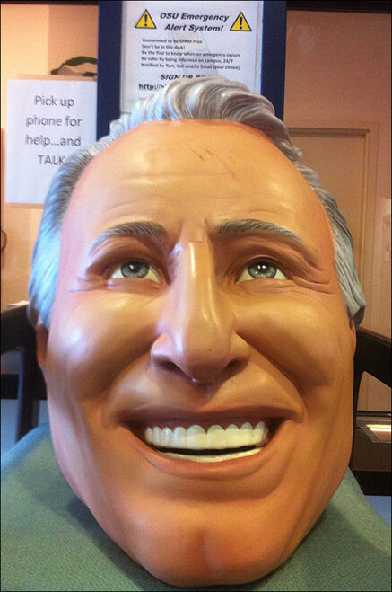 Duck fans steal Lee Corso's face