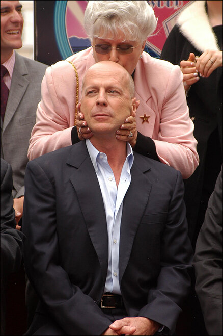 Bruce Willis and mother Marlene