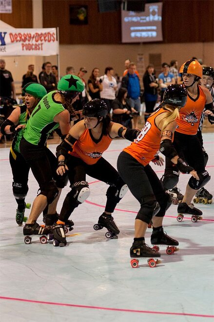 The Big O - Emerald City Roller Girls vs Sin City Roller Girls 06 - Photo by Tristan Fortsch _ KVAL News