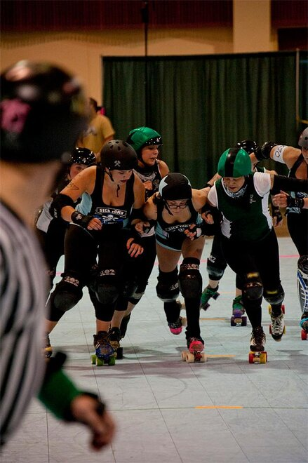 The Big O Derby - Sick Town Derby Dames vs Slaughter County Roller Vixens 40 _Friday 5-17