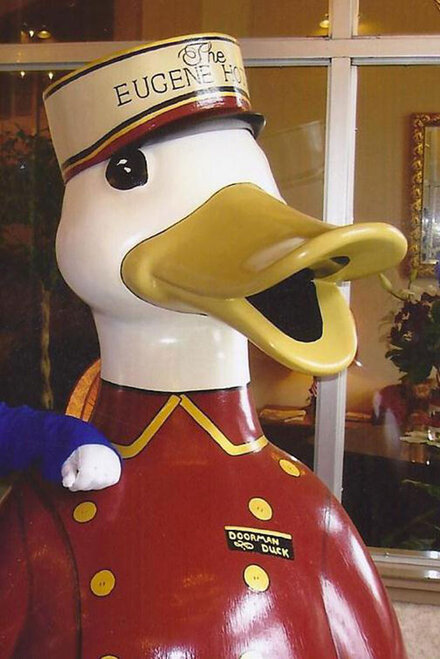 Doorman Duck, after the hat-napping