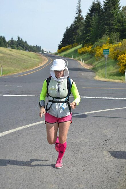 Nurse running from Canada to Mexico