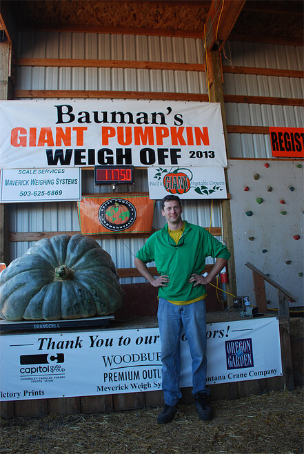 Bauman Farms giant squash record