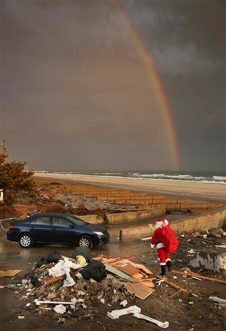 APTOPIX Superstorm Santa