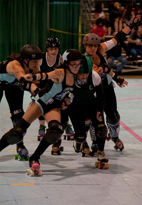 The Big O Derby - Sick Town Derby Dames vs Slaughter County Roller Vixens 08 _Friday 5-17