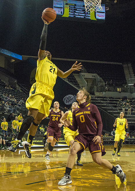 Oregon women beat Arizona State 98-90 at Matt Knight Arena - 11