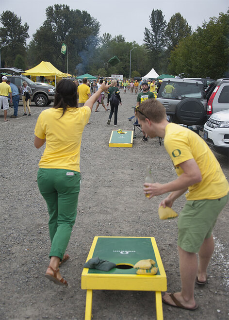 Tailgating as Oregon hosts Tennessee - Photo by Tristan Fortsch
