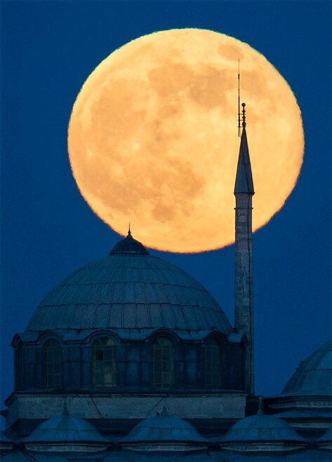 APTOPIX Turkey Supermoon