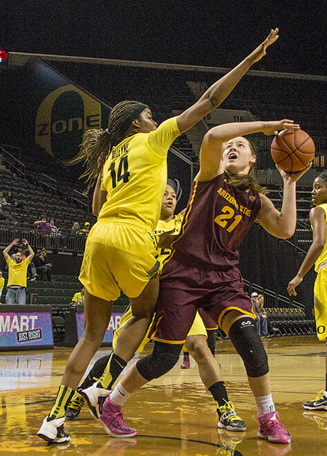 Oregon women beat Arizona State 98-90 at Matt Knight Arena - 04
