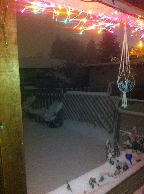 Kacie Ariss photo of Corvallis snow December 6