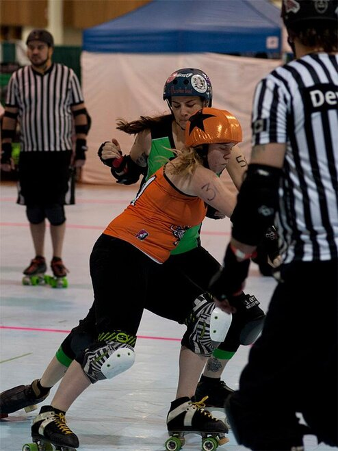 The Big O - Emerald City Roller Girls vs Sin City Roller Girls -07- Photo by Tristan Fortsch KVAL News